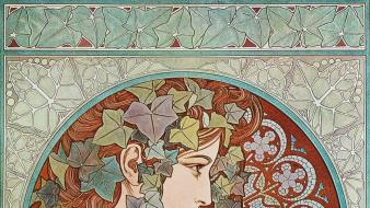 Alphonse mucha artwork wallpaper