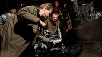 Batman christian bale christopher nolan set photos wallpaper