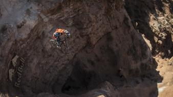 Bicycles sports extreme motorbikes red bull rampage wallpaper