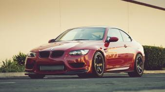 Bmw cars vehicles red m3 wallpaper