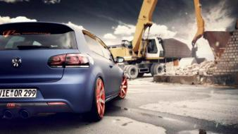 Cars golf vehicles german rear view auto wallpaper