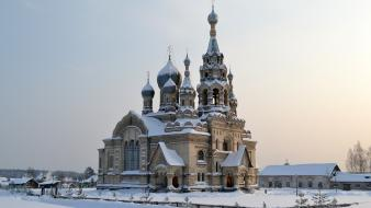 Church city skyline cities orthodox christian russian wallpaper