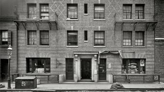 City grayscale historical apartments cobblestones amin peyrovi wallpaper