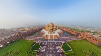Cityscapes temples india akshardham temple wallpaper