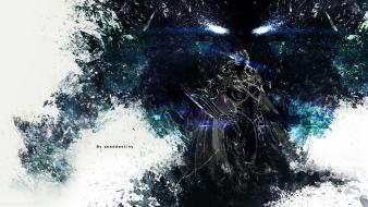Dark knight vindictus glowing eyes transformation wallpaper