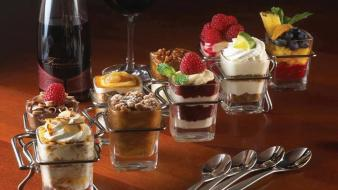 Desert chocolate food candy wine wallpaper