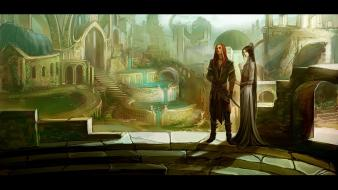 Fantasy art artwork temple anndr kusuriuri wallpaper