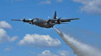 Firefighter c-130 hercules aerial tanker water bomber wallpaper