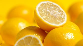 Fruits food lemons wallpaper