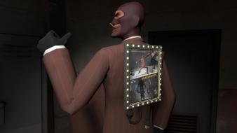 Games spy tf2 team fortress 2 3d wallpaper