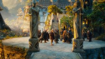 Hobbit statues elrond rivendell an unexpected journey wallpaper