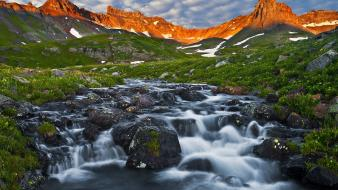 Ice mountains landscapes nature dawn colorado san juan wallpaper