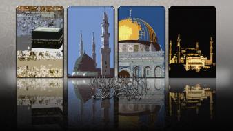 Istanbul mosque panels makkah kaabah medina madinah wallpaper