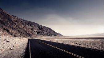 Landscapes desert highway wallpaper