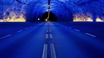 Landscapes nature tunnels national geographic roads wallpaper