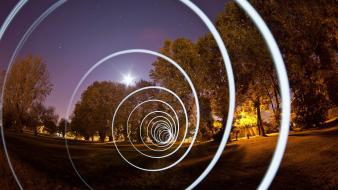 Light night tunnels time lapse wallpaper