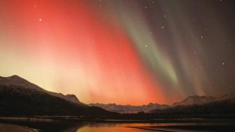 Mountains landscapes nature aurora borealis alaska wallpaper
