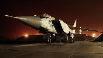 Night mig-25 foxbat russian air force jet wallpaper
