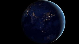 Outer space lights earth india wallpaper