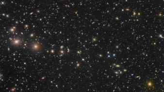 Outer space stars galaxies cluster wallpaper