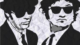 Paper music blues brothers musican wallpaper