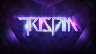 Purple glowing dubstep tristam edm wallpaper