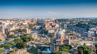 Rome italy hdr photography clear blue sky wallpaper