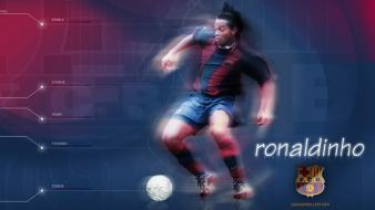 Soccer barcelona ronaldinho football player wallpaper