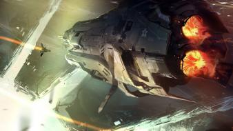 Spaceships concept art artwork 4 nicolas bouvier wallpaper