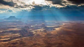 Sunlight utah rivers canyonlands national park wallpaper