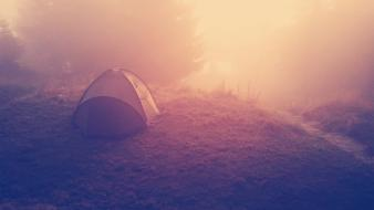 Sunset nature filter tents Wallpaper