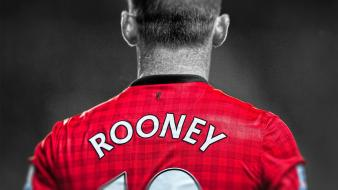 United fc wayne rooney premier league cutout wallpaper