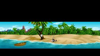 Video games beach monkey island lucasarts guybrush retro wallpaper