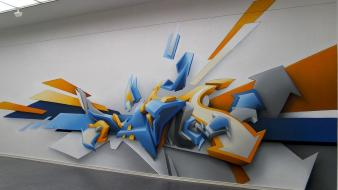 Abstract graffiti daim 3d graphics three dimensional Wallpaper