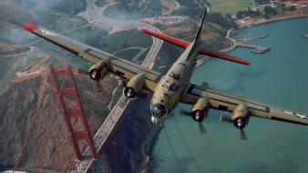 Airplanes warbird b-17 flying fortress wallpaper