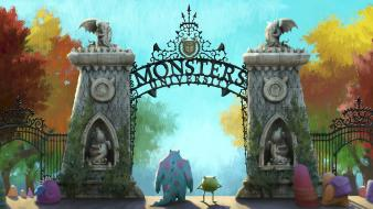 Artwork monsters university wallpaper
