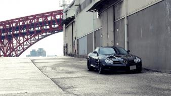 Bridges vehicles mercedes-benz mercedes benz slr mclaren wallpaper