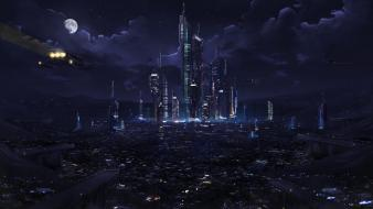 Buildings fantasy art cities Wallpaper