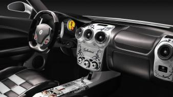 Cars ferrari destroyed garbage interior wallpaper