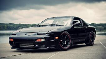 Cars nissan black 180sx wallpaper