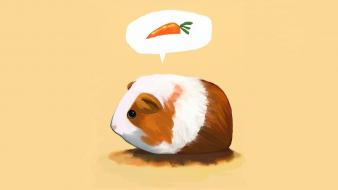 Cartoons animals carrots guinea pigs pig wallpaper