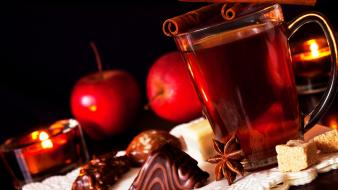 Chocolate christmas drinks cinnamon apples wallpaper
