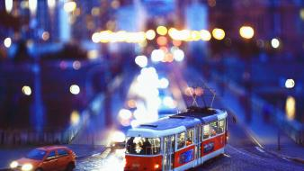 Cityscapes traffic tram tilted view wallpaper
