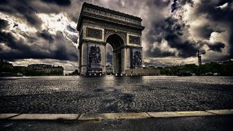 Clouds architecture monument hdr photography cobblestones arches wallpaper