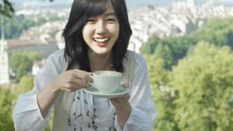 Depth of field lim soojung black hair wallpaper