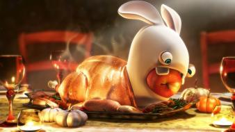 Digital art artwork raving rabbids wallpaper