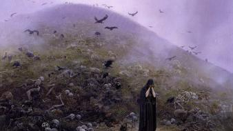 Fantasy art ted nasmith silmarillion jrr tolkien grief wallpaper
