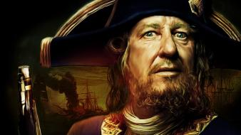 Film pirates of the caribbean captain hector barbossa wallpaper