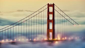 Fog bridges golden gate bridge wallpaper