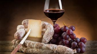 Food france cheese wine sausage wallpaper